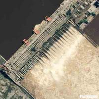 三峡大坝卫星图片
