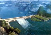 三峡大坝模拟图片
